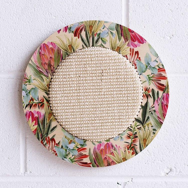 modern wall mounted cat scratcher sisal fabric