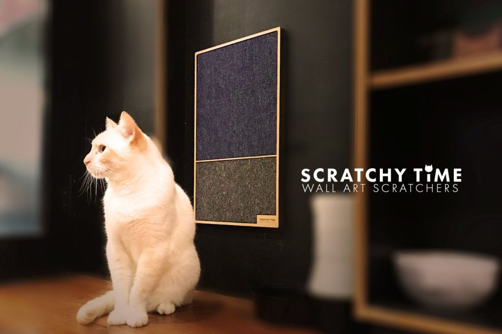 modern wall mounted cat scratcher wall art