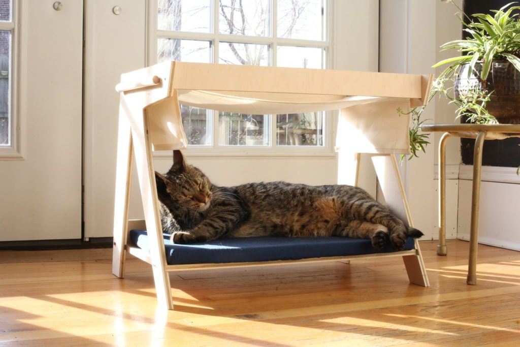 mid century modern cat bed and hammock