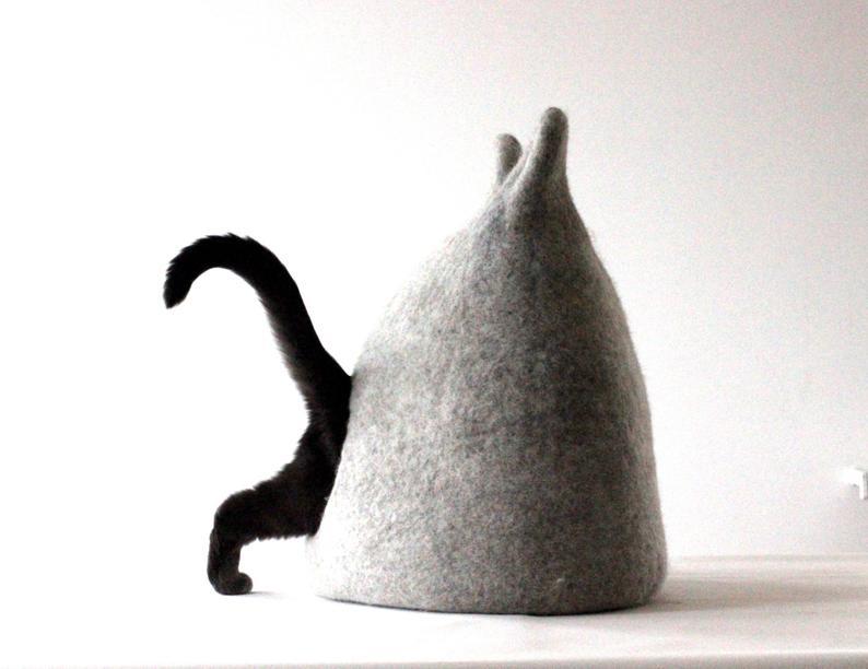 felt cat cave cat bed cat cocoon