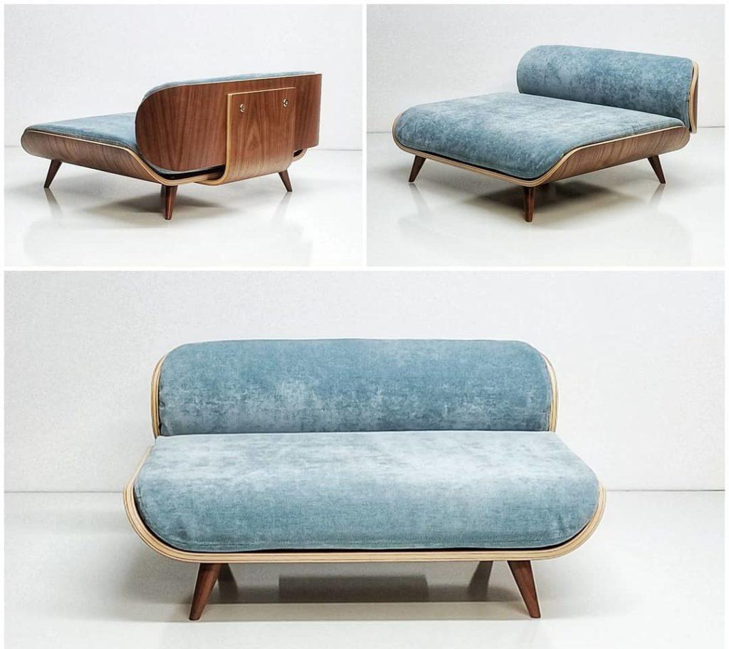 mid century modern cat bed, minimalist cat bed PIXI from Cairu design