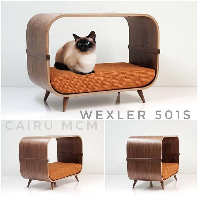 mid century modern cat bed - Wexler by Cairu